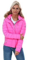 Superdry Vibe Pink Fuji Slim Double Zip Hooded Jacket