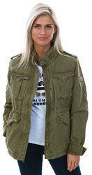 Superdry Dark Khaki Classic Winter Rookie Military Jacket
