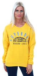 Superdry Sporty Ochre Relaxed Crew Sweater