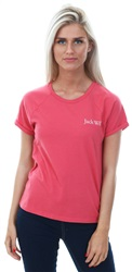 Jack Wills Deep Rose Blockley Raglan T-Shirt