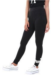 Puma Cotton Black Essentials Logo Leggings