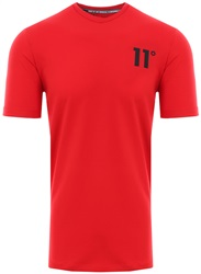 11degrees Red Muscle Fit T-Shirt