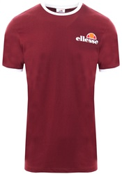 Ellesse Dark Red Agrigento S/Sleeve T-Shirt