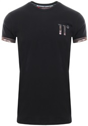 11degrees Black Logo Camo S/Sleeve  T-Shirt