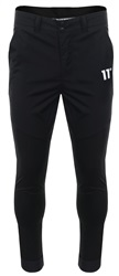 11degrees Black Elite Tech Skinny Button Pants