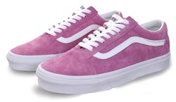 Vans Violet/True White Suede Old Skool Trainers