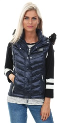 Superdry Navy Tanzanite Luxe Fuji Double Zip Vest