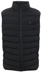 Gym King Black Core Quilt Padded Zip Up Gilet