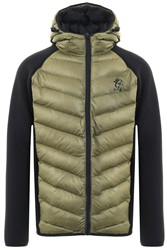 Gym King Olive Bones Zip Up Padded Jacket
