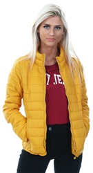 Only Golden Yellow Short Quilted Padded Jacket