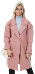 Vila Pink / Ash Rose Wool Long Coatigan