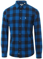 Jack Wills Navy/Blue Salcombe Lw Flannel Check Shirt