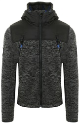 Superdry Black Granite Marl Mountain Zip Hoodie