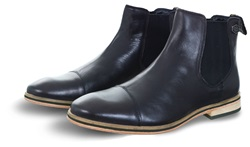 Superdry Black Leather Premium Meteora Chelsea Boot
