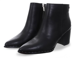 Xti Black Side Zip Ankle Boot