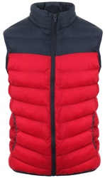 Brave Soul Navy/Red Padded Gilet