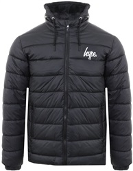 Hype Black Padded Logo Jacket