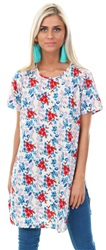 Influence Multi Floral Printed Pattern Top