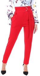 Parisian Red Taped High Waist Belted Trouser
