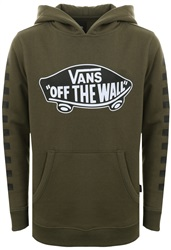 Vans Grap/Leaf Black Kids Exposition Check Pullover Hoodie