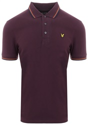Lyle & Scott Deep Plum Tipped Polo Shirt