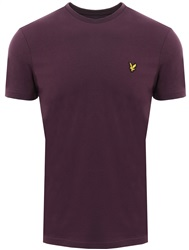 Lyle & Scott Deep Plum Crew Neck T-Shirt