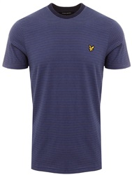 Lyle & Scott Dark Blue Feeder Stripe T-Shirt