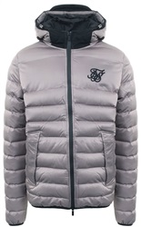 Siksilk Grey Target Zip Up Padded Jacket
