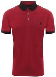 Alex & Turner Burgandy S/S Polo T-Shirt