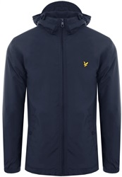 Lyle & Scott Dark Navy Microfleece Lined Zip Through Jacket