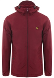 Lyle & Scott Claret Jug Microfleece Lined Zip Through Jacket