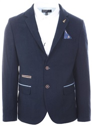 Fratelli Navy Smart Tweed Blazer