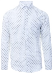 Brave Soul White Printed Pattern Shirt