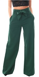 4th & Reckless Forest Green Blake Tie Belt Trouser