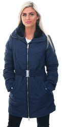 Veromoda Night Sky / Navy Long Padded Jacket