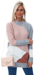Urban Bliss Pink Patch Work Knit Jumper