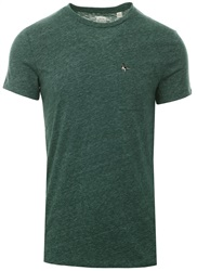 Jack Wills Dark Green Marl Ayleford Pocket T-Shirt