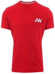 Jack Wills Red Westmore Logo S/Sleeve T-Shirt