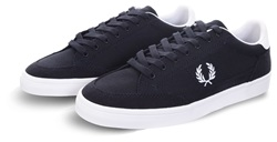 Fred Perry Navy Deuce Lace Up Canvas