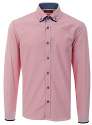Silvio Valentin Red Stripe Long Sleeve Button Shirt