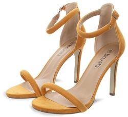 Krush Mustard Barely There Pointed Heels
