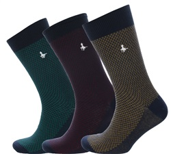 Jack Wills Navy Furmston Waffle 3 Pack Socks
