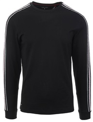 Threadbare Black L/Sleeve Racer T-Shirt