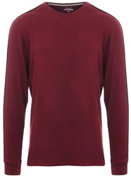 Threadbare Burnt Red L/Sleeve Racer T-Shirt