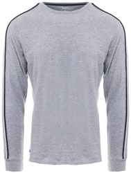 Threadbare Grey Marl L/Sleeve Racer T-Shirt