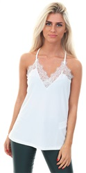 Snow White Lace Singlet Top by Veromoda