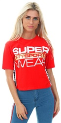 Superdry True Red Street Sports Crop T-Shirt