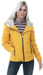 Only Golden Yellow Short Quilted Jacket