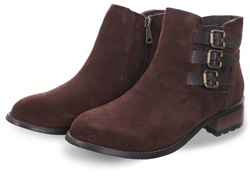 Divaz Brown Lexi Buckle Ankle Boot