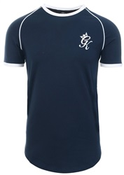 Gym King Navy Nights Guzik Curved Hem T-Shirt
